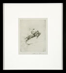 Edward Borein - Buckaroo. Etching and drypoint.