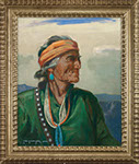 Carl Oscar Borg - Navajo Elder. Oil on canvas.