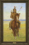 Henry H. Cross - Sioux Scout. Oil on canvas.