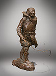 Charles Marion Russell - Sled Man. Bronze (POsthumous).