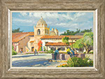 Conrad Schwiering - Carmel Mission. Oil on canvas painting.