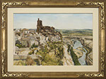 Donald Teague, N.A. - Toledo. Watercolor painting.